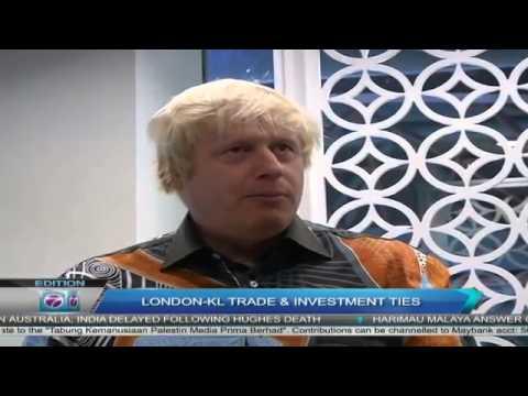 London-Kuala Lumpur Trade & Investment Ties | London Mayor Boris Johnson arrived in KL