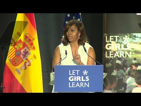 """Michelle Obama: """"Hay que ayudar a 62 millones de chicas"""""""