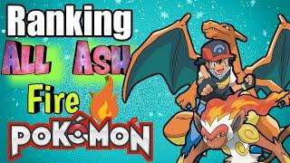 Ranking all ash 🔥 fire Pokémon..||| Pokemoner x