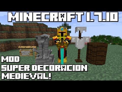 Minecraft 1.7.10 MOD SUPER DECORACIÓN MEDIEVAL