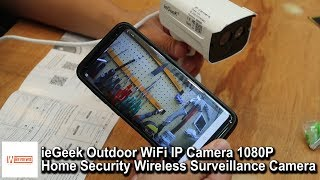 ieGeek Outdoor WiFi 1080P Security Wireless Waterproof Surveillance Camera