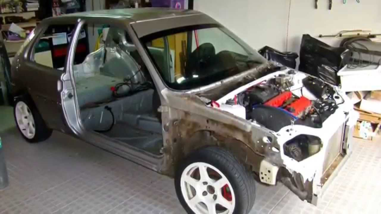 Citroen Saxo VTS Rally Car Built - YouTube