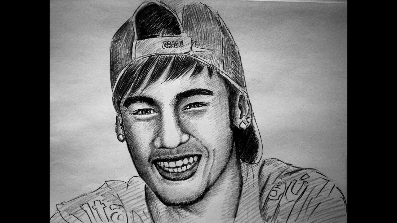 how to draw   neymar portrait   desenhar neymar retrato