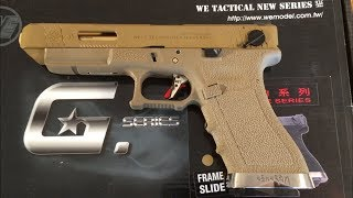 WE G35 T9 Glock 35 Airsoft Fully Automatic GBB Pistol