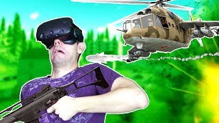 TAKING DOWN HELICOPTERS IN THE VR BATTLE ROYALE! - Stand Out Battle Royale HTC VIVE Gameplay