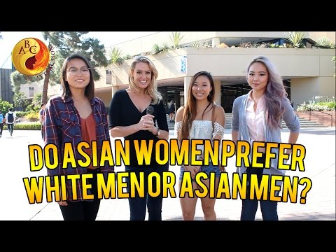 Asian men want to date white females