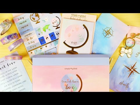"""UNBOXING Simply Gilded December """"Travel Love"""" Box!"""