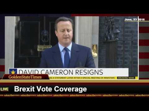 Live Stream: PRIME MINISTER DAVID CAMERON RESIGNS AFTER BREXIT VOTE