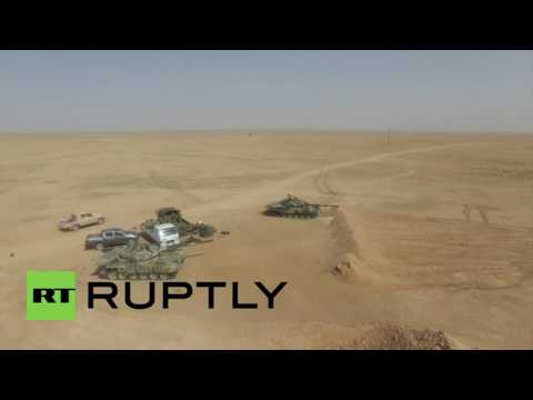 Syria: Drone footage shows Syrian army advancing on Raqqa province