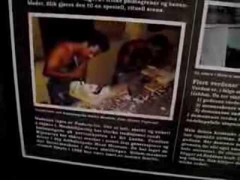 Sri Lankan Ruhunu Dancing - Exhibition At Oslo's Historical Museum video