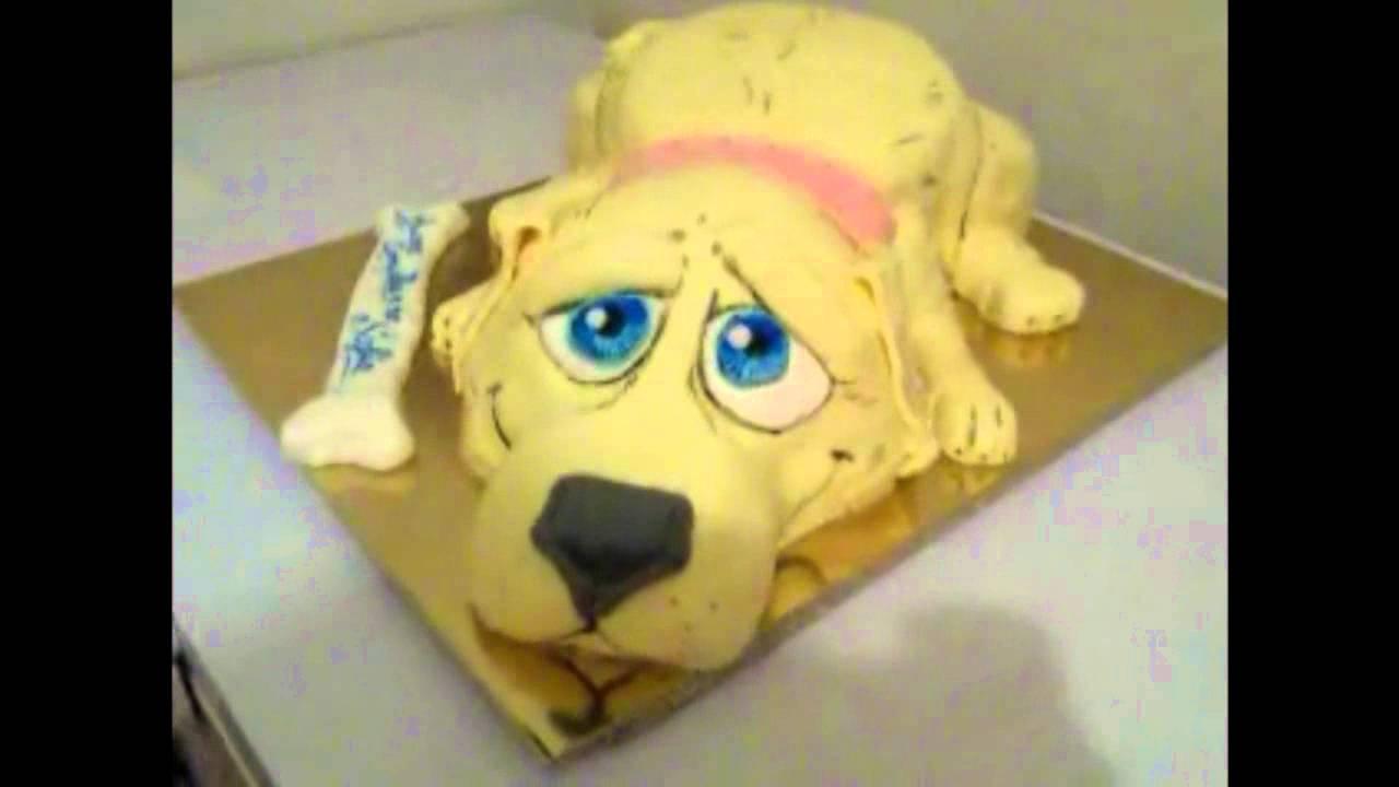 Torta a forma di cane lavorata a mano fata in casa le for Recinti per cuccioli di cane in casa