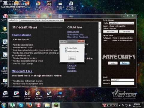 Minecraft Cracked Installer 1.6.2 By TeamExtreme [2013]