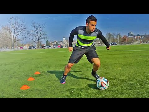 How To Improve Your Skills & Ball Control - Play Like Neymar, Robben & Pogba Soccer Tutorial video
