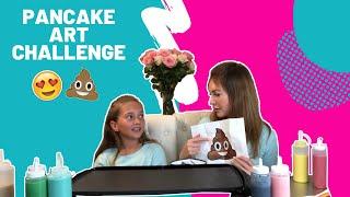 PANCAKE ART CHALLENGE!!!! Learn How To Make Funny EMOJI (Poop) PANCAKE