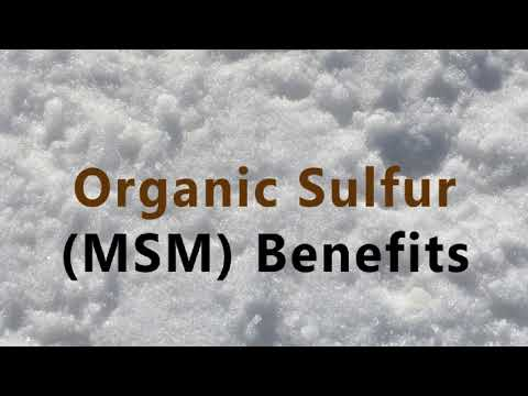 MSM Sulfur Benefits - What They Don't Want You To Know!