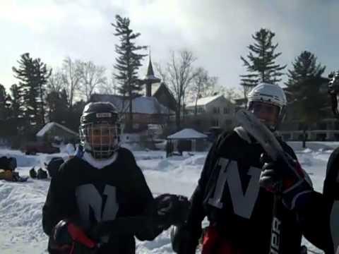 Northwood School  Pond Hockey 2011 on  Mirror Lake - 01/27/2011
