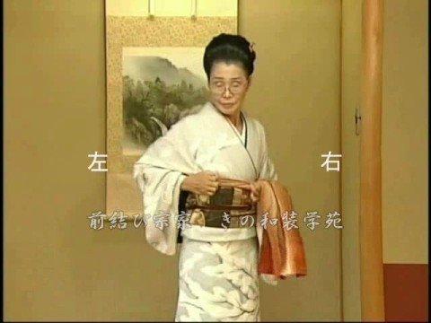 着物の帯の結び方 二重太鼓(ミラーレッスン版・後編)
