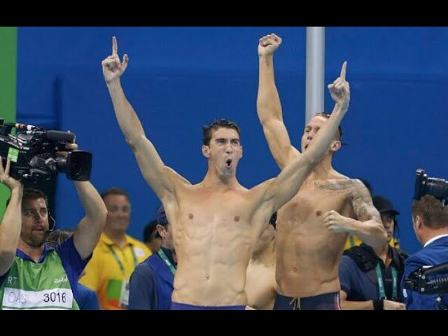 Michael Phelps Wins Gold Medal at Rio Olympics 2016