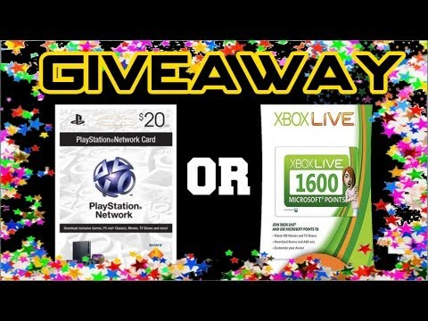 $20 PSN Card/1600 Microsoft Points GIVEAWAY! 2013 (CLOSED)