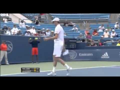 Jurgen Melzer vs Sam Querrey Western & Southern Open Cincinnati 2R 08 14 2012