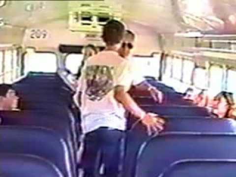 Bus driver beats up kid