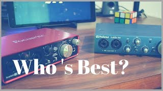 Presonus iTwo vs Focusrite 2i2 - Which is best for you? Epic Shooutout and vs Battle