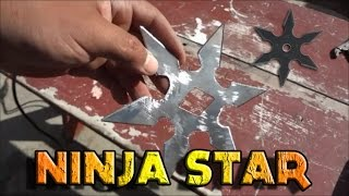 How To Make A Home Made Large Shuriken Ninja Throwing Star 手裏剣
