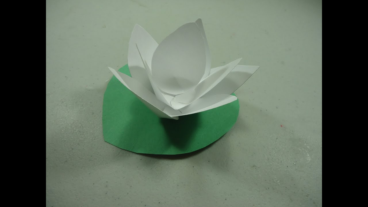 How to make a paper lotus flower ep youtube for How to make a lotus with paper