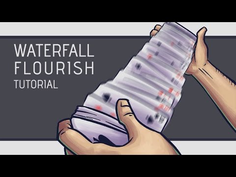 Waterfall Card Flourish Tutorial [hd] video