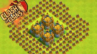 """GOLD TROLL BASE!"" - Clash of Clans - +200 CUPS GAINED OVER NIGHT! Trolling Noobs!"