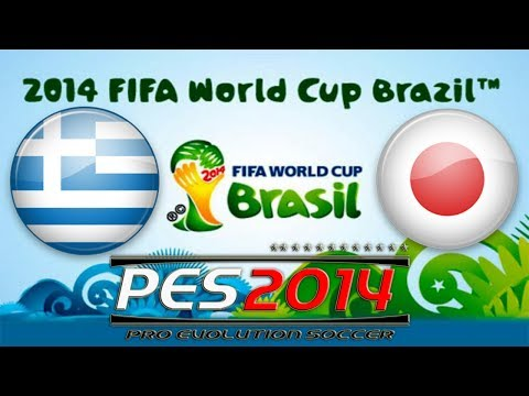 PES 2014 FIFA World Cup Greece vs Japan