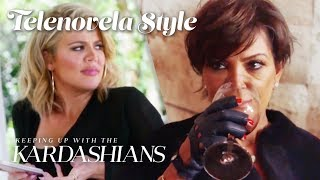 Kris Jenner Gets Tipsy And Lets Loose With Khloé & Kourtney | KUWTK Telenovelas | E!