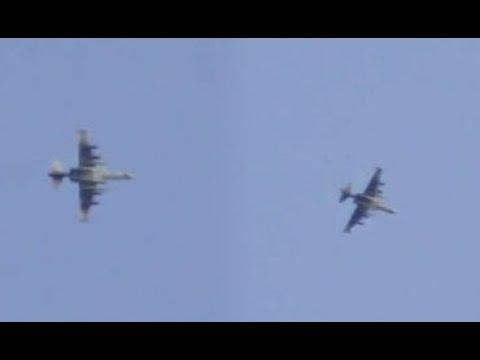 Гибель СУ-25 в районе Идлиба (полная версия)/Su-25 shot down in Syria (Full version)