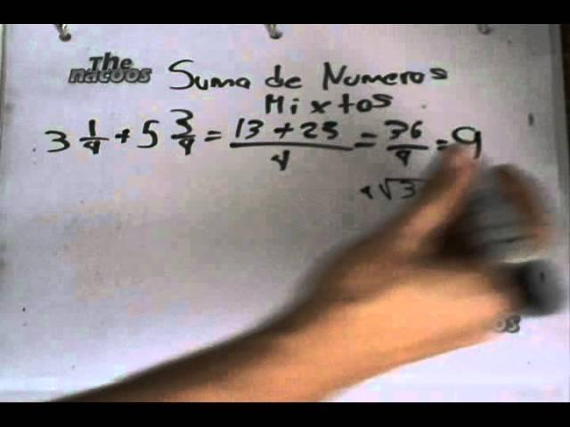Suma de Numeros Mixtos - Matematicas Nivel Principiante