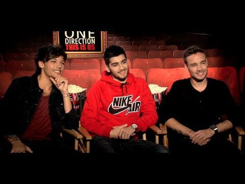 ONE DIRECTION movie interview - Harry Styles, Niall Horan, Liam Payne, Zayn Malik, Louis Tomlinson