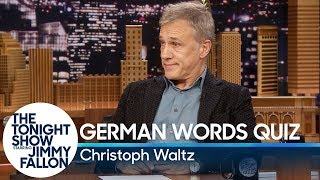 Christoph Waltz Gives Jimmy Fallon a German Words Quiz