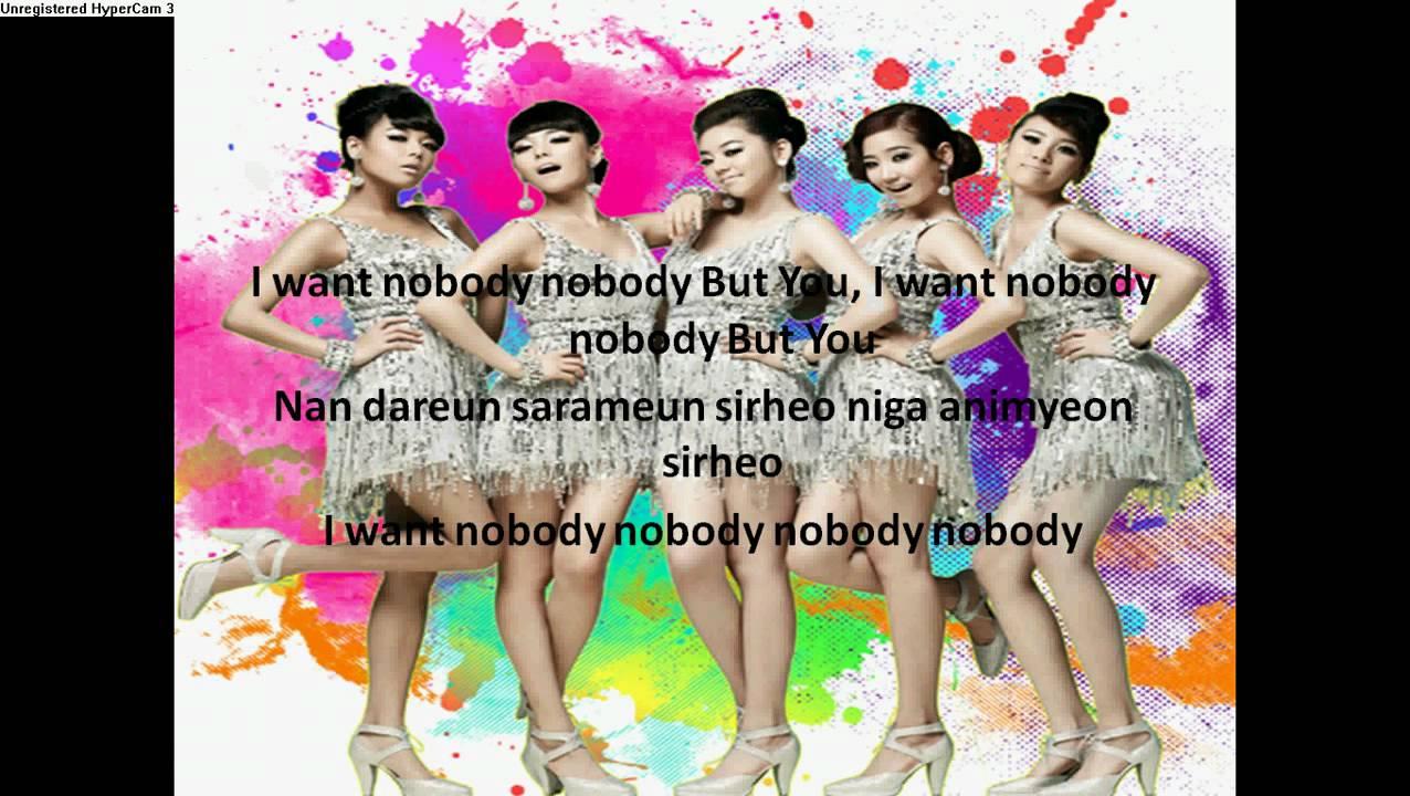 Nobody By Wonder Girls With Lyrics Youtube