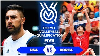 USA vs KOREA | Highlights Men | Volleyball Olympic Qualification 2019 (HD)