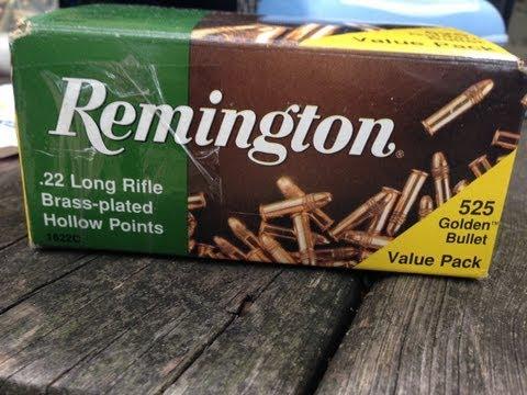.22LR. Remington Golden Bullet (#21250) 36gr HP Velocity Test. 16