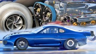 2,400HP Toyota Supra - 6 CYLINDER Drag Car!