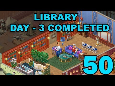 HOMESCAPES STORY WALKTHROUGH - LIBRARY - DAY 3 COMPLETED - GAMEPLAY - #50
