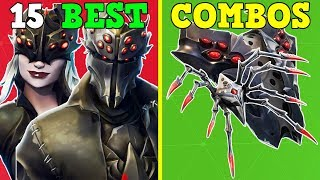 15 BEST SKIN COMBOS With 'SPIDER SHIELD' & 'LONG LEGS' | Fortnite Battle Royale!
