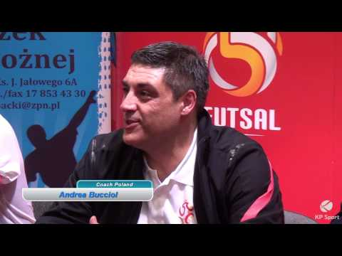 FUTSAL / Poland - Belarus / Press conference / Krosno 18.03.2015