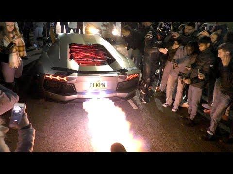 "Videos like this ""Lamborghini Aventador SHOOTING FLAMES! HUGE REVS on lamborghini with flames, dodge charger shooting flames, koenigsegg agera r shooting flames, lamborghini aventador spitting flames, ferrari f40 shooting flames,"