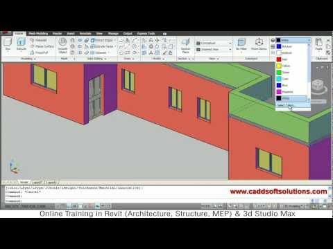 autocad 3d house modeling tutorial 3d home 3d building