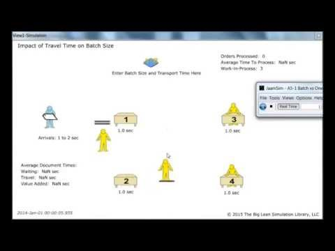 Lean Simulation: Batch vs One Piece Flow with Transport - Office