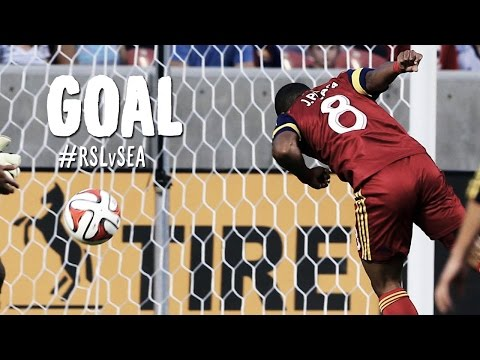 GOAL: Joao Plata lines a header into the back of the net | Real Salt Lake  vs Seattle Sounders