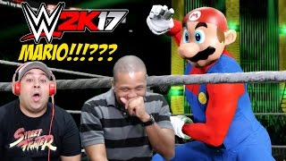 HOLD THE F#%K UP!! MARIO IN THIS B#TCH!? [WWE 2K17]