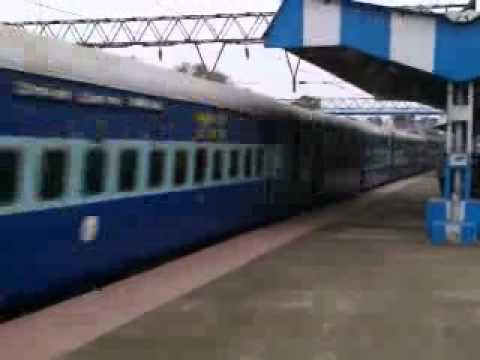 INDIAN EXPRESS TRAIN PASSING ON PLATFORM