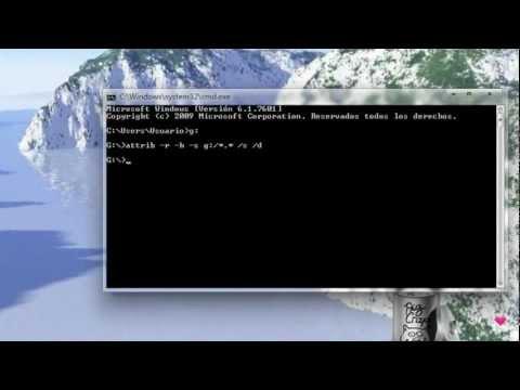 Eliminar virus de tu usb facil (recycler, acceso directo, etc) / Mostrar archivos ocultos de tu usb